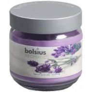 Bolsius Filled Glass Candle With Scent And Lid - Lavender - Large